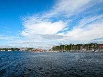 斯塔万格港口挪威 免版税库存图片