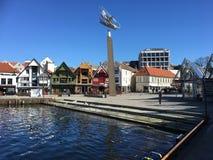 斯塔万格集市广场,挪威 免版税图库摄影