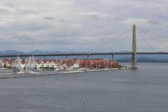 斯塔万格,挪威,欧洲城市桥梁  库存照片