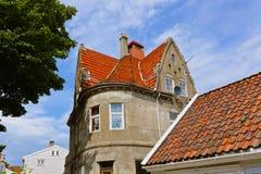 斯塔万格-挪威的老中心 库存照片