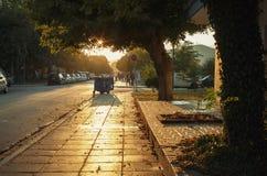 斯塔夫罗斯大街日落的 库存图片
