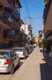 斯塔夫罗斯村庄街道  免版税库存照片