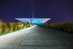 斯塔夫罗斯Niarchos文化中心建筑学设计的基础,雅典,希腊 库存图片