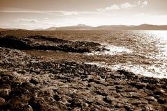 从斯塔法岛的看法在苏格兰 库存图片