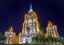 斯大林摩天大楼在莫斯科(高度- 206 m),在1953-被创立了 免版税图库摄影