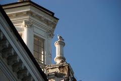 斯大林时代的建筑学的元素 免版税库存照片