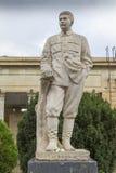 斯大林雕象在Gori,乔治亚 库存图片