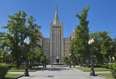 斯大林主义莫斯科的摩天大楼 免版税图库摄影