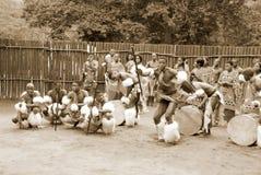 斯威士人舞蹈家 免版税库存图片