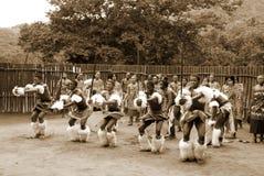 斯威士人舞蹈家 免版税库存照片