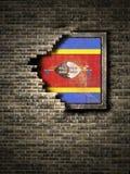 斯威士兰旗子古王国时期在砖墙的 皇族释放例证