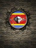 斯威士兰旗子古王国时期在砖墙的 向量例证
