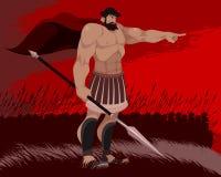 斯巴达和他的战士 库存例证