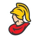 斯巴达在盔甲标志 皇族释放例证