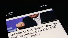 斯布尼克新闻app弗拉基米尔・普京斯布尼克app伪造品新闻 影视素材