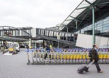 斯希普霍尔阿姆斯特丹机场入口 库存照片