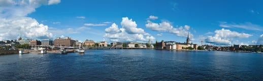 斯德哥尔摩全景 免版税库存图片