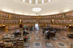 斯德哥尔摩公立图书馆 免版税库存图片