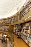 斯德哥尔摩公立图书馆 库存照片