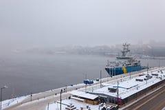 斯德哥尔摩冬天早晨 库存照片