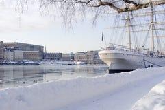 斯德哥尔摩冬天 图库摄影