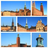 斯德哥尔摩印象 免版税库存图片