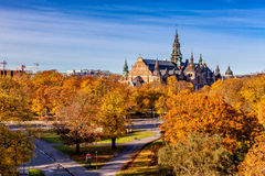 斯德哥尔摩在秋天 库存照片