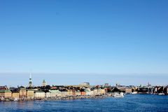 斯德哥尔摩地平线老镇 图库摄影