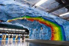 斯德哥尔摩地铁(地铁) 免版税库存照片