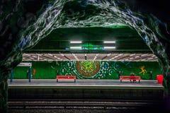 斯德哥尔摩地铁(地铁) 免版税库存图片