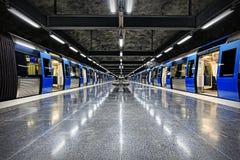 斯德哥尔摩地铁(地铁) 免版税图库摄影