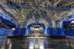 斯德哥尔摩地铁 免版税图库摄影