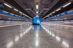 斯德哥尔摩地铁- Solna子线 免版税图库摄影