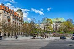 斯德哥尔摩大厦、建筑学和纪念碑 免版税库存图片