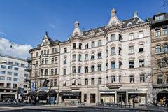 斯德哥尔摩大厦和建筑学 免版税库存图片