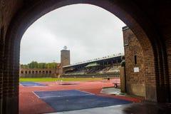 斯德哥尔摩奥林匹克体育场:从马拉松门的部份看法 免版税库存图片