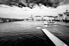 斯德哥尔摩市中心。 库存照片