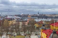 斯德哥尔摩市全景 库存照片