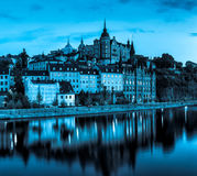 斯德哥尔摩市地平线 免版税库存图片