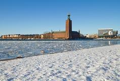 斯德哥尔摩市政厅。 免版税库存图片