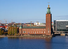 斯德哥尔摩市政厅。 库存图片