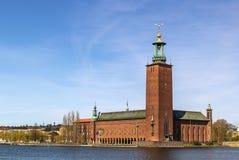 斯德哥尔摩市政厅 免版税库存照片