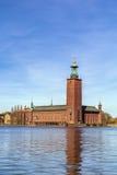 斯德哥尔摩市政厅 免版税图库摄影