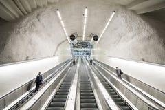 斯德哥尔摩市自动扶梯 库存图片