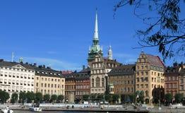 斯德哥尔摩市视图白天 免版税库存图片