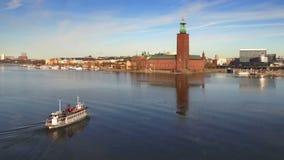斯德哥尔摩市鸟瞰图  股票视频