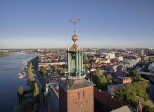 斯德哥尔摩市鸟瞰图  库存图片