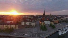 斯德哥尔摩市鸟瞰图  股票录像