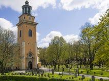 斯德哥尔摩玛丽亚马格达莱纳教会  免版税库存照片