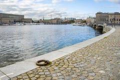 斯德哥尔摩瑞典一种美好的都市风景  库存照片